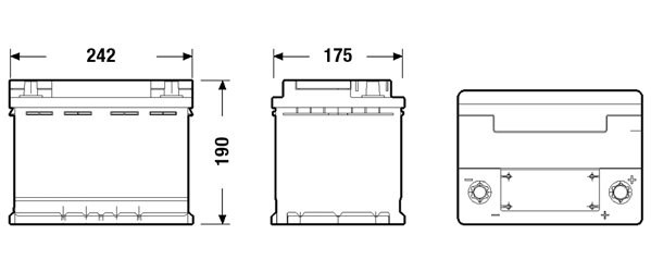AKUMULATOR 60AH/680A 12V P+ START-STOP P CENTRA